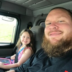 K O Towing -David Ovington and daughter